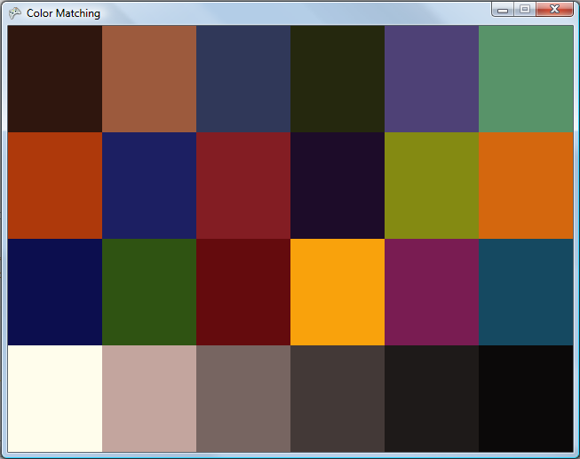 Bespoke software color matching xyz to rgb - How to know what colors match ...